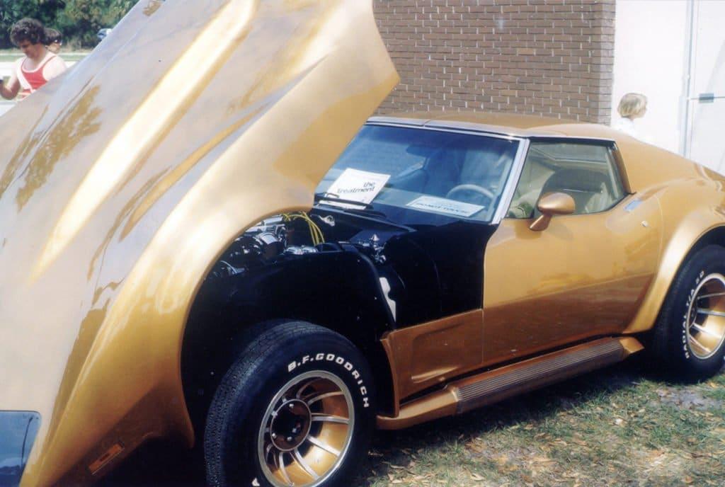Eckler's Hatchback Corvette Side Shot - Hood Open