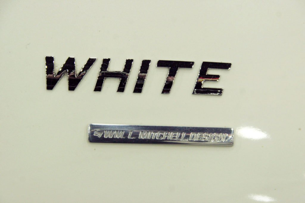 William Mitchell's name on the Great White Corvette