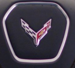 Mid-Engined Corvette C8's Steering Wheel Logo