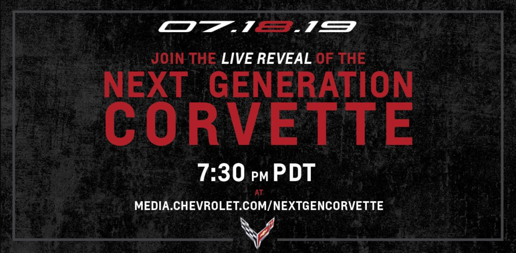 C8 Corvette Reveal: the Next Generation Corvette Livestream date and time