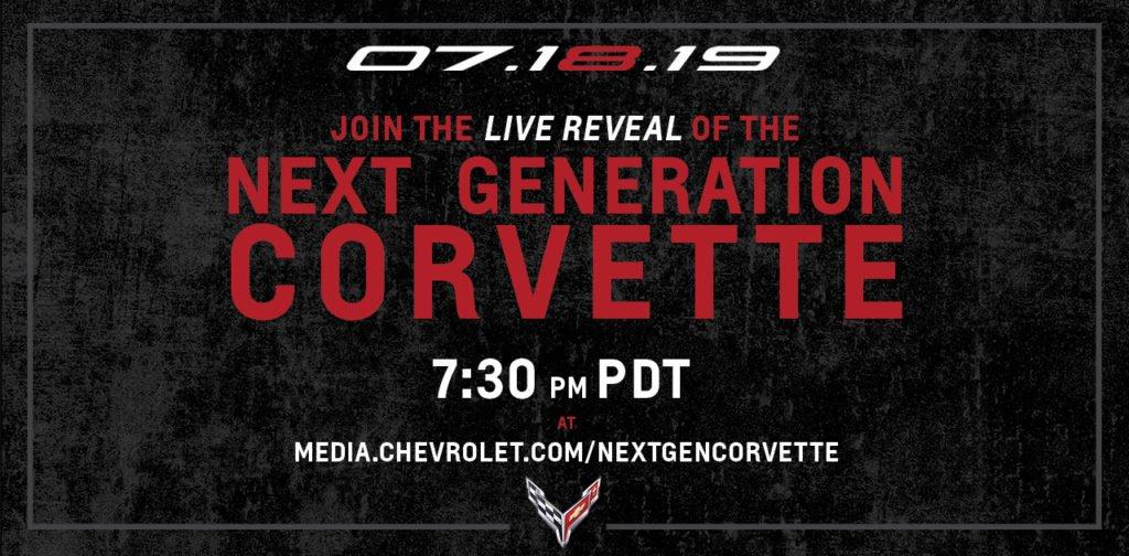C8 Corvette Reveal: the Next Generation Corvette Livestream date and time