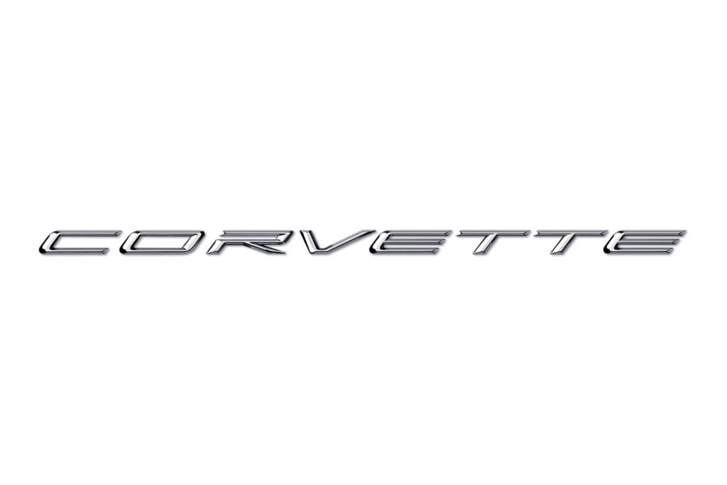 2020 Corvette Signature in Chrome Script on White