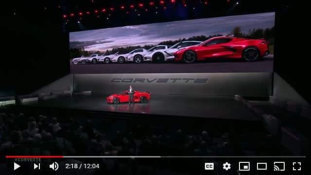 2020 Corvette Stingray Reveal Event Live Video Footage