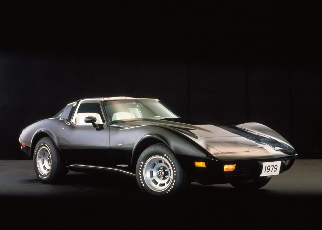 The highest number of Corvettes produced was in 1979 with 53,807.  No other Corvette model year before or since has sold so many units. The Base Corvette Sport Coupe retailed for $10,220.  There were 10 colors offered that year with black being the number one color choice.