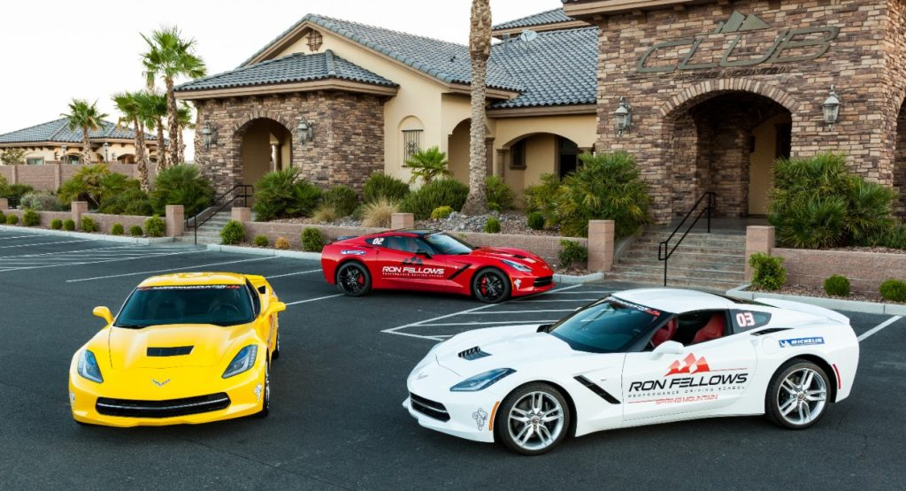 Ron Fellows Performance Driving School is located at the Spring Mountain Motor Resort and Country Club in Pahrump, Nevada. (This is 50 miles west of Las Vegas.)