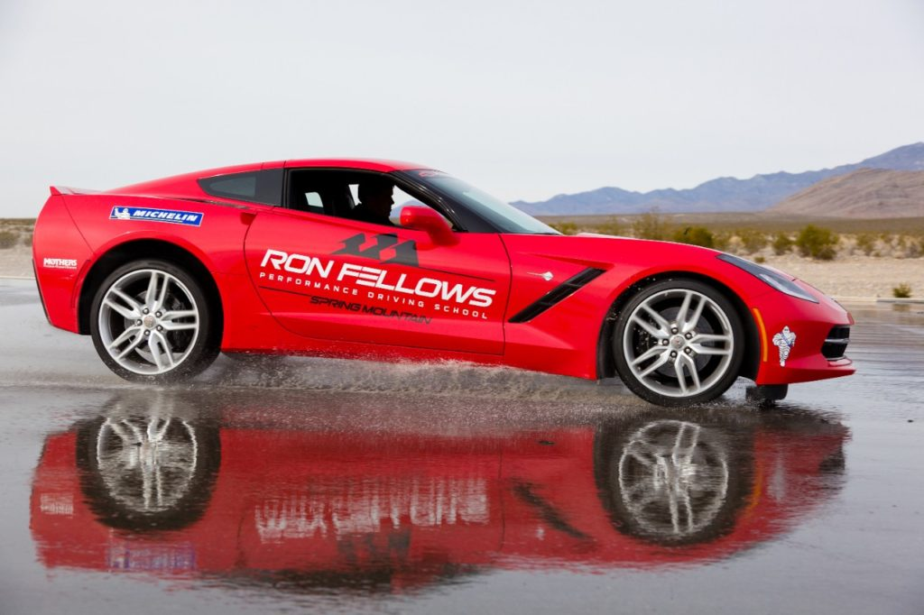 The Ron Fellows Driving School  offers Level 1 and Level 2 to Corvette Owners