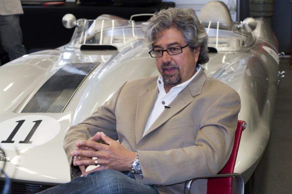 John Cafaro, executive director Global Chevrolet Design, discusses the restoration of the 1 millionth Corvette at an event at the GM Design Center on June 9, 2015.