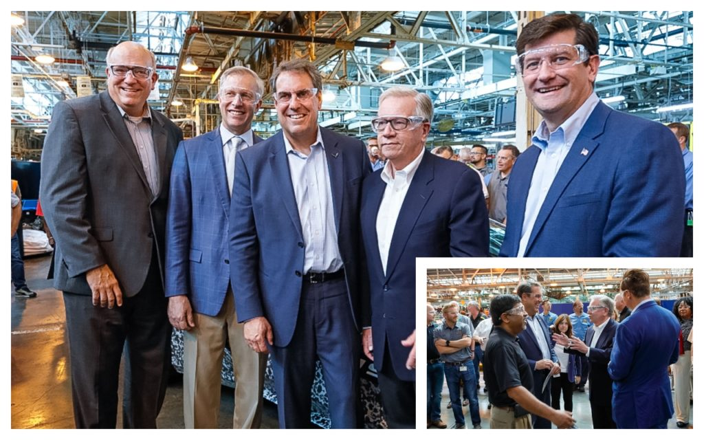 GM President visited the Tonawanda Plant where they will build the 2020 Corvette Engine.