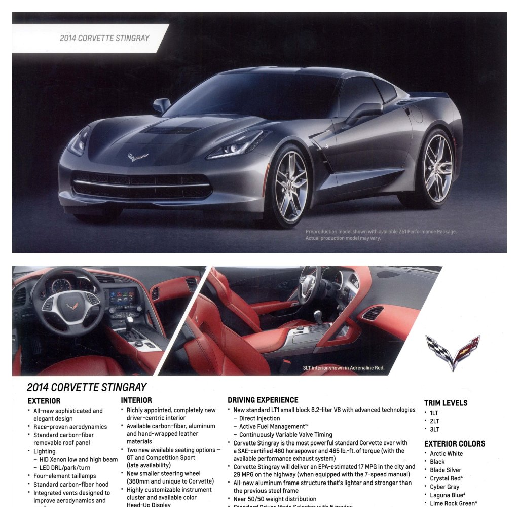2014 Chevrolet Corvette Stingray Coupe card