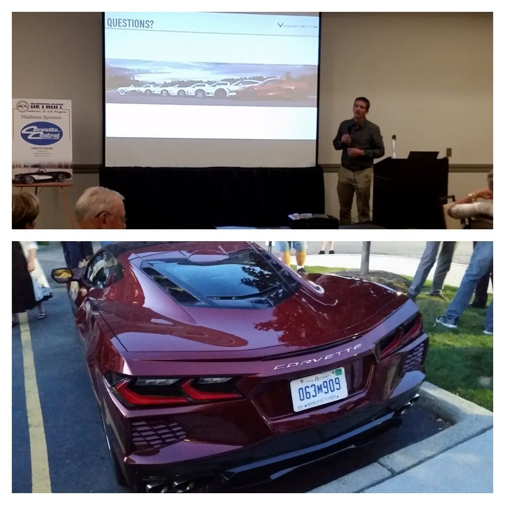 "Josh Holder, Corvette Program Manager and ""Assistant Chief Engineer"" did a seminar on the design of the C8, including its many unique features at the 2019 Solid Axle Corvette Club Convention in Detroit."