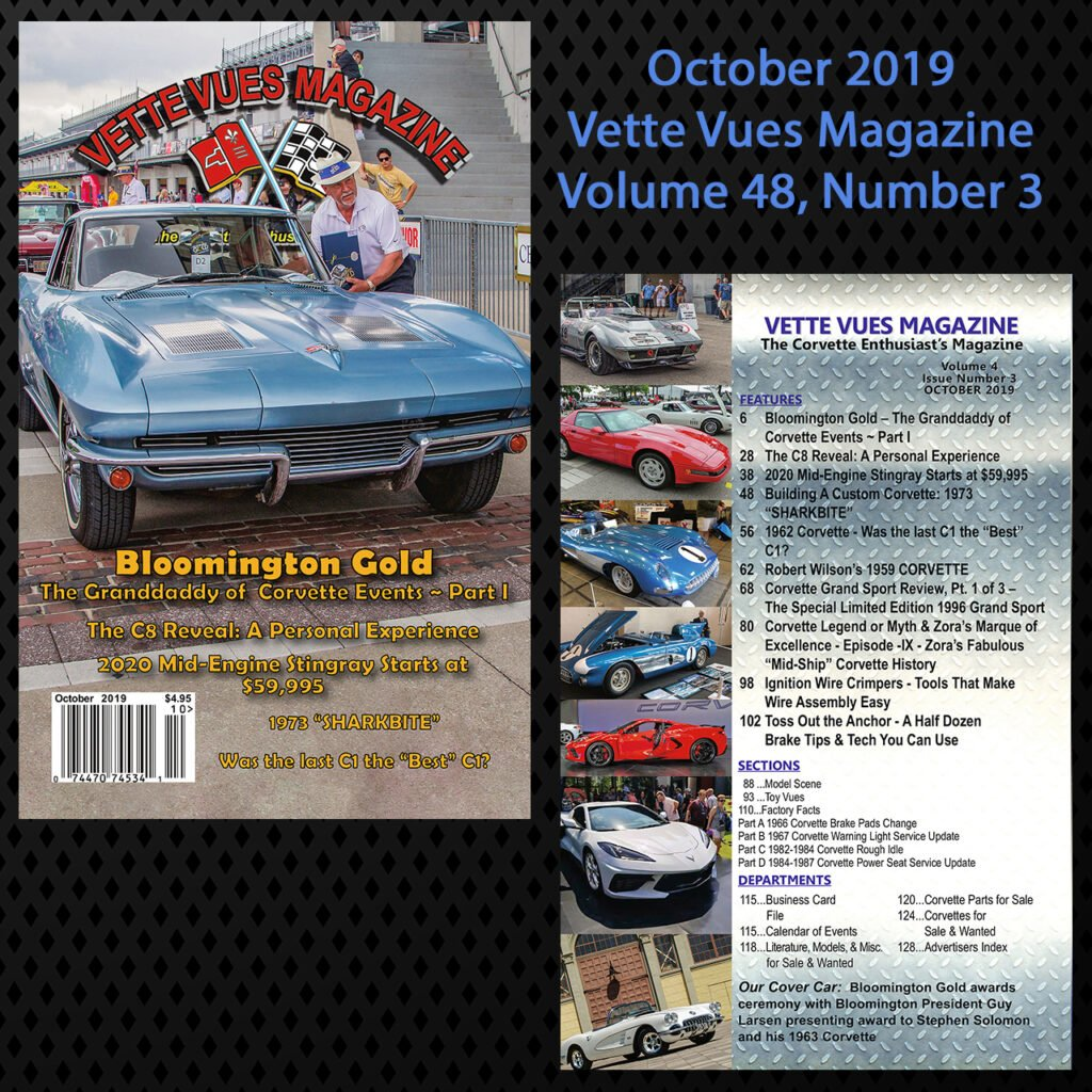 October 2019 Vette Vues Magazine, Volume 48, Issue Number 3