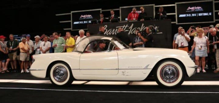 1954 Corvette Bubble Top sold for $88,000 At Barrett-Jackson Palm Beach auction in 2015.