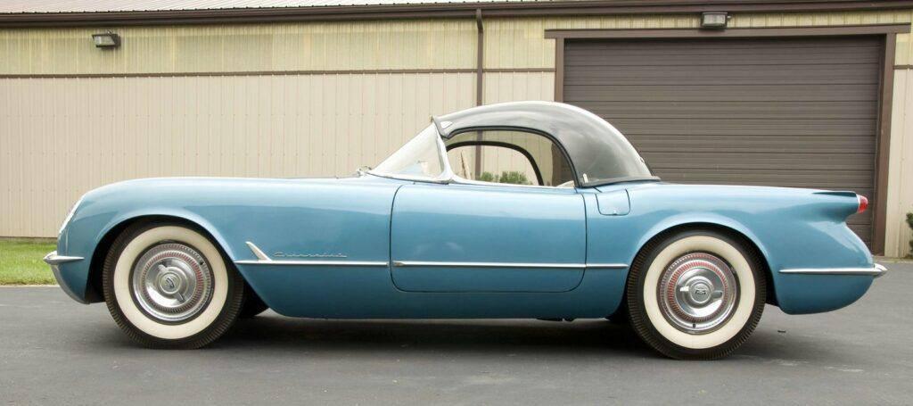 1954 Bubble Top Corvette side shot.