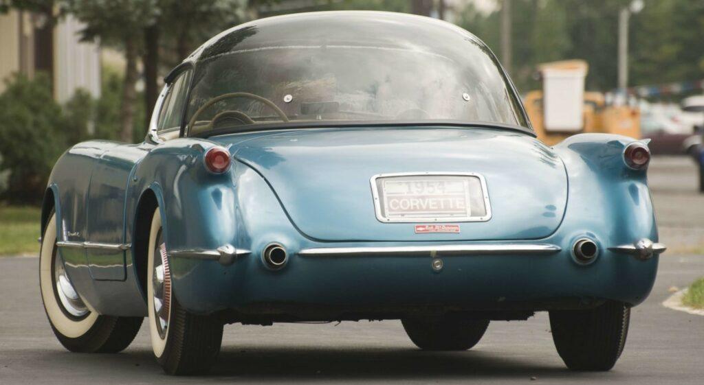 1954 Bubble Top Corvette rear shot. Photo Credit: Mecum Auction