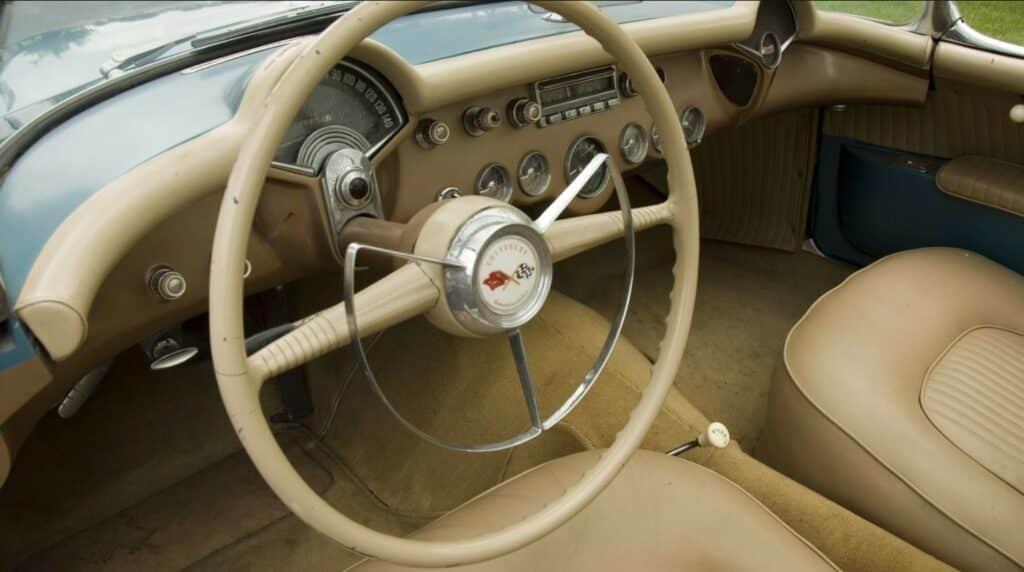 1954 Bubble Top Corvette dash.
