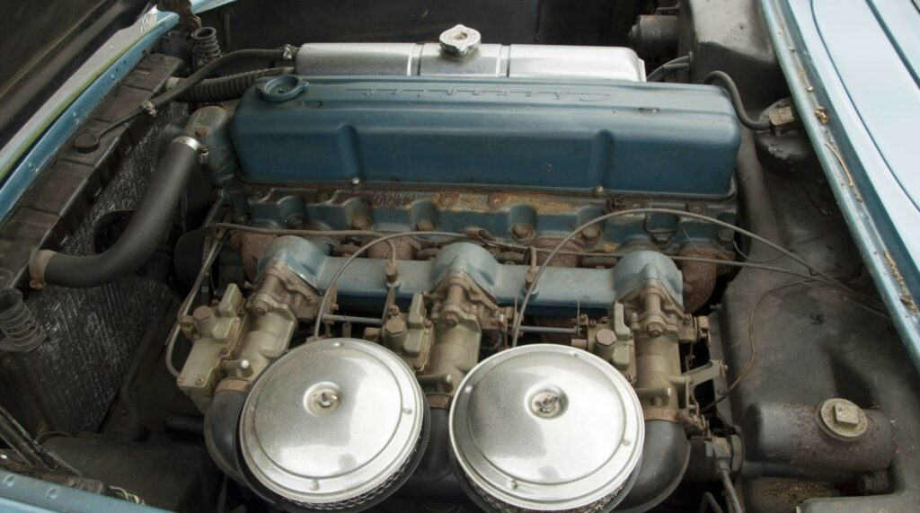1954 Corvettes were powered by the 235/155 HP Blue Flame Six engine mated to a Powerglide 2-speed automatic transmission.
