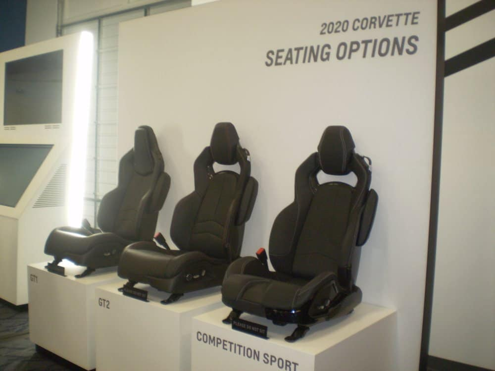 There are three seat options available: GT1, GT2, and Competition Sport