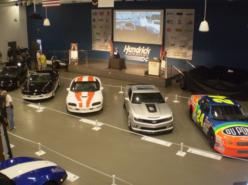Display vehicles from the Perkins Family, and Mr. Hendrick's Heritage Center collection.