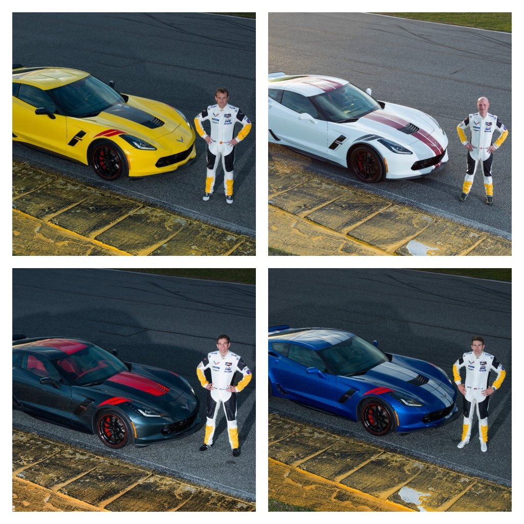 CHAMPION CORVETTE RACERS DESIGN UNIQUE DRIVERS SERIES MODELS