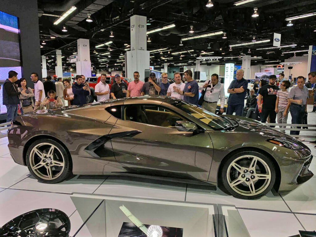 Anaheim Convention Center OC Auto Show had the Zeus Bronze C8 Corvette on display.
