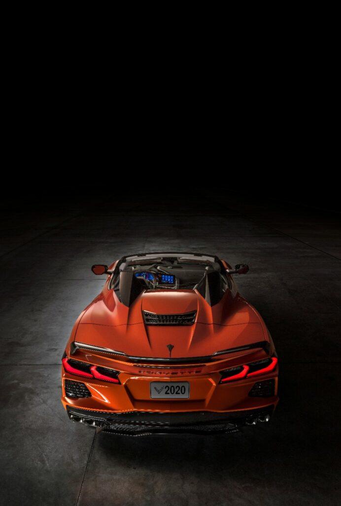 2020 Chevrolet Corvette Stingray Convertible Top Down