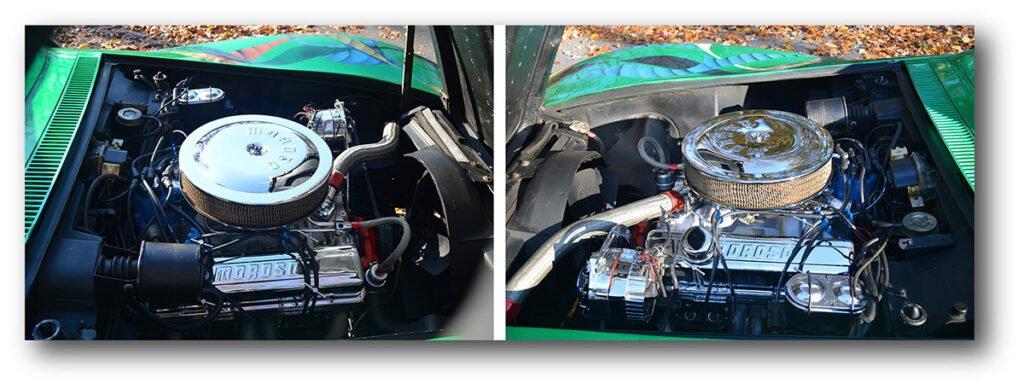 Kevin Livering's seventies custom 1969 Corvette engine.