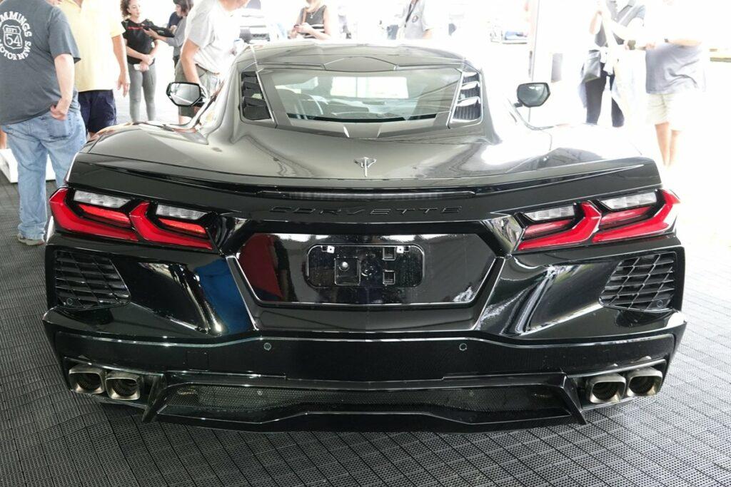 Black C8 2020 Corvette at Corvettes at Carlisle