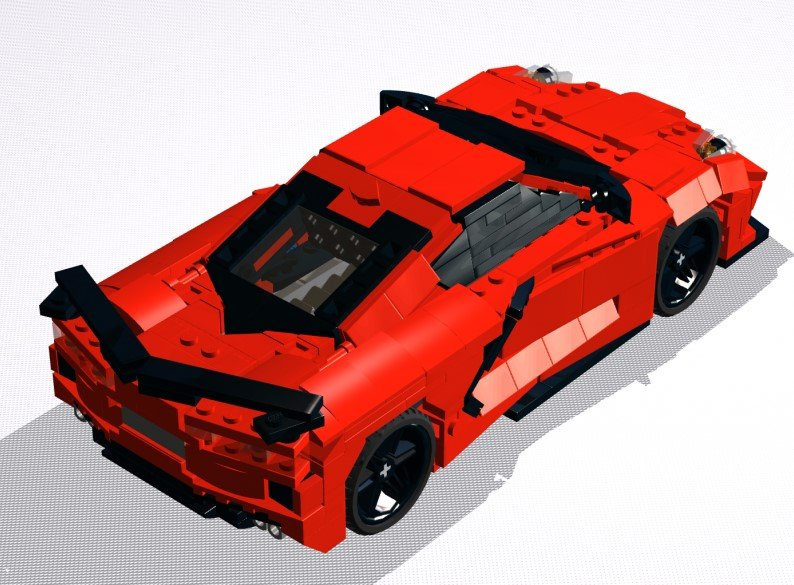 Lasse Deleuran has come out with plans so you can build your own LEGO C8 Corvette.