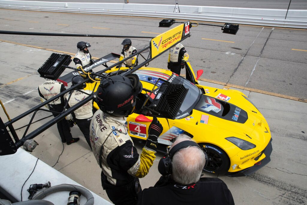 Teammate Oliver Gavin, in the No. 4 Corvette C7.R, set a time of 1:16.048 (120.239 mph) Friday and will start seventh in GTLM. In a display of the competitiveness of GTLM, Gavin was only 0.409 seconds from pole and less than two-tenths from the second row. He will drive with Tommy Milner and Marcel Fässler – the trio having placed second at Road Atlanta in GTLM a year ago.