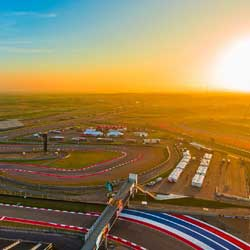 Circuit of The Americas is the premier destination for world-class motorsports and entertainment in the United States. Set on 1,500 acres in the rolling hills just outside downtown Austin, Circuit of The Americas has hosted the biggest names in racing, action sports and music since 2012. At its heart is a 3.41-mile racetrack that was designed to challenge the world's most exacting competitors while providing a thrilling spectacle for audiences.