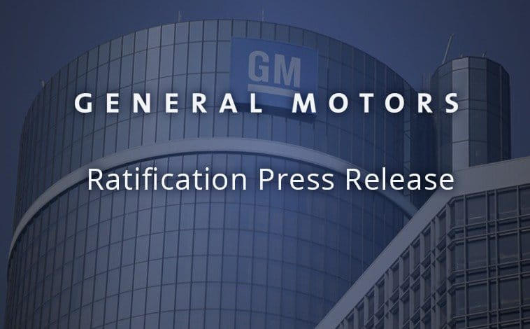 GM Team Members Complete Ratification of New Four-Year Agreement