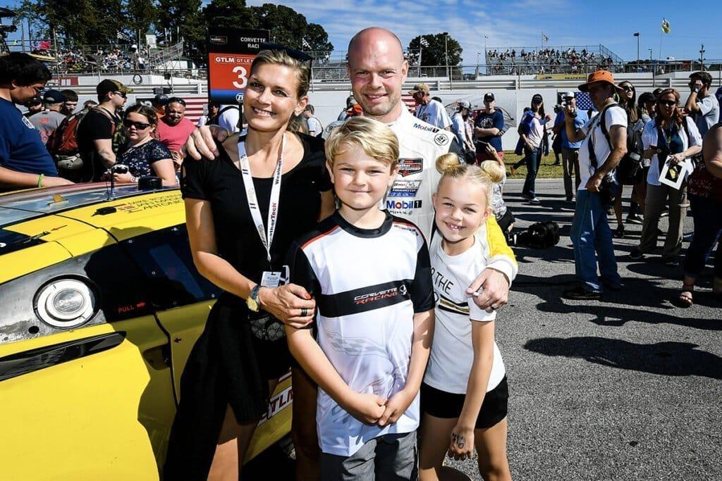 Jan Magnussen and his family at the Petit Le Mans at Road Atlanta 2019. This was Jan Magnussen's last driving season for Corvette Racing.