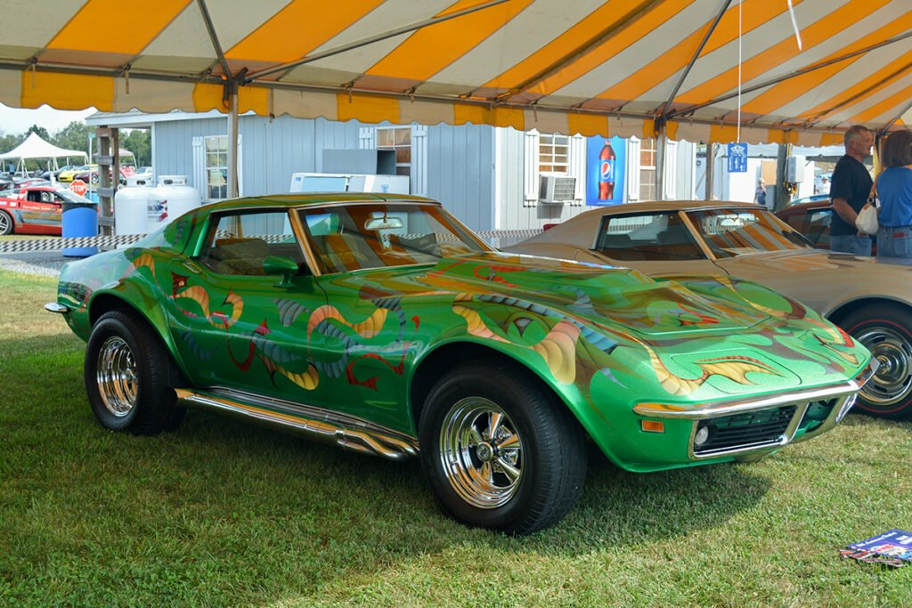 Kevin's Corvette was on display in a special tent at the 2019 Corvettes at Carlisle.