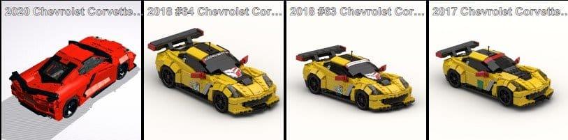 Corvette LEGO Instructions