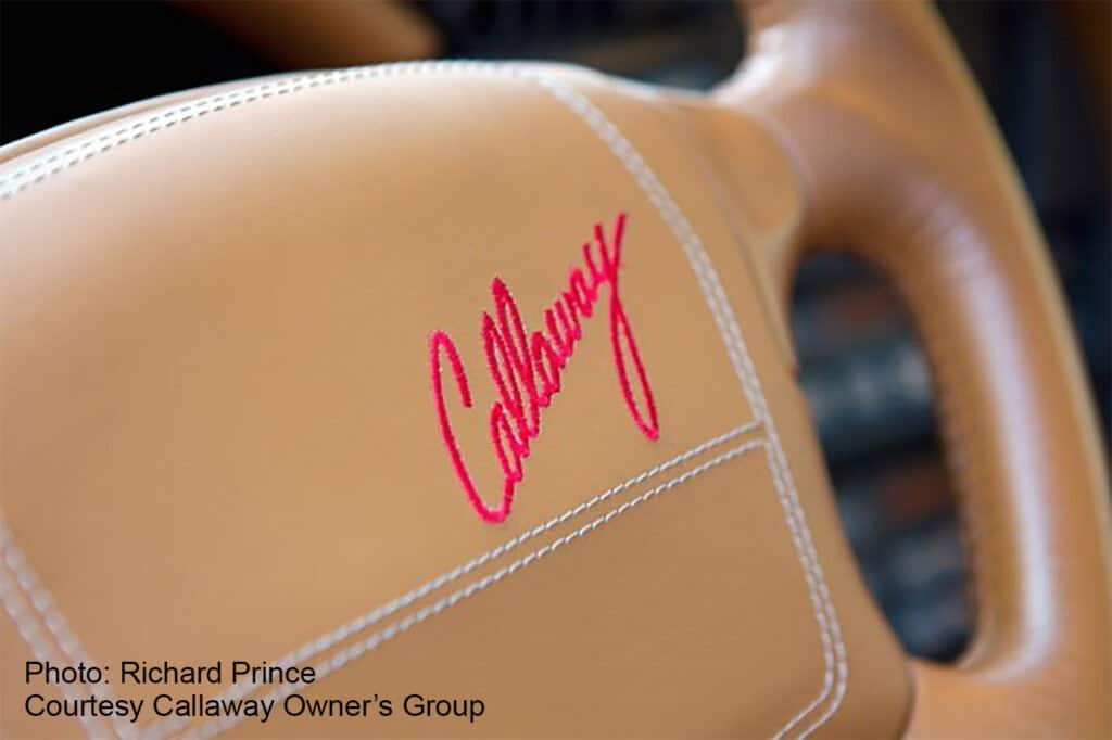 Callaway CR-1 Corvette with custom leather interior  - Photo Credits: Richard Prince - Courtesy Callaway Owner's Group