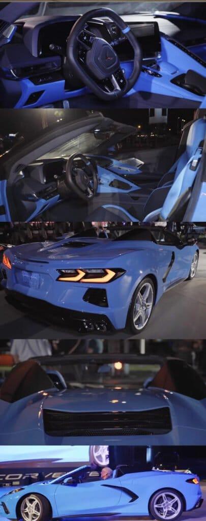 Rapid Blue 2020 Chevrolet Corvette C8 Convertible at Reveal