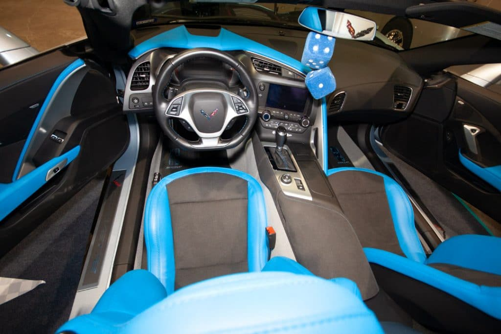 Nathan Kranson 2017 Corvette has the beautiful Tension Blue upholstery.