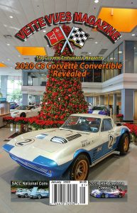 January 2020 Issue Vette Vues Magazine, 1963 Grand Sport #005, Woodward Dream Cruise, SACC Convention, Eyes on Design, Ron Fellows Driving School, C8 Corvette LT2 V-8 Engine & Transmission, Holley Carburetors & more.