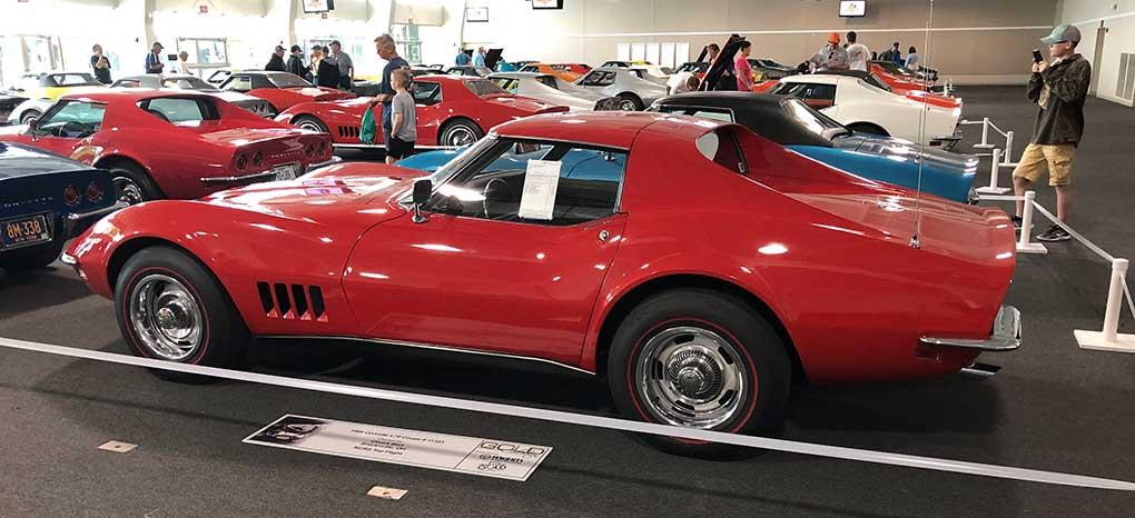 Chuck Bart came from Brecksville, Ohio with his 1968 L79 Corvette.