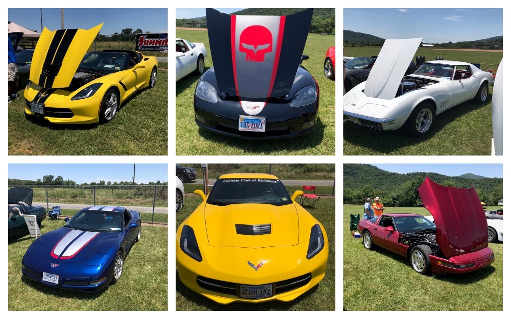 Corvettes of all years attended the 2019 Vettes at Sedalia, all Corvette Cruise-In.