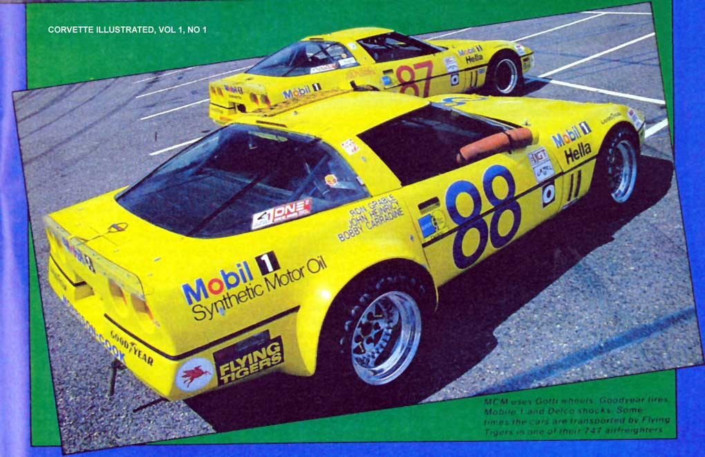 The # 88 IMSA car was used to test prototype parts for the ZR1, while the # 87 car ran the Endurance Challenge series and was mostly used for tire testing.  Photo Credit: John Stein