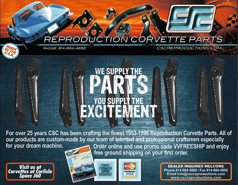 CSC Reproduction Corvette Parts