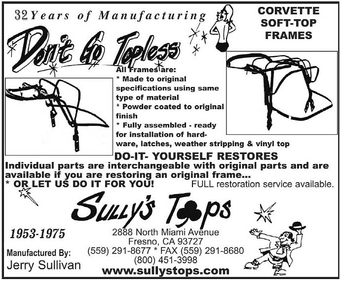 Sully's Corvette Tops