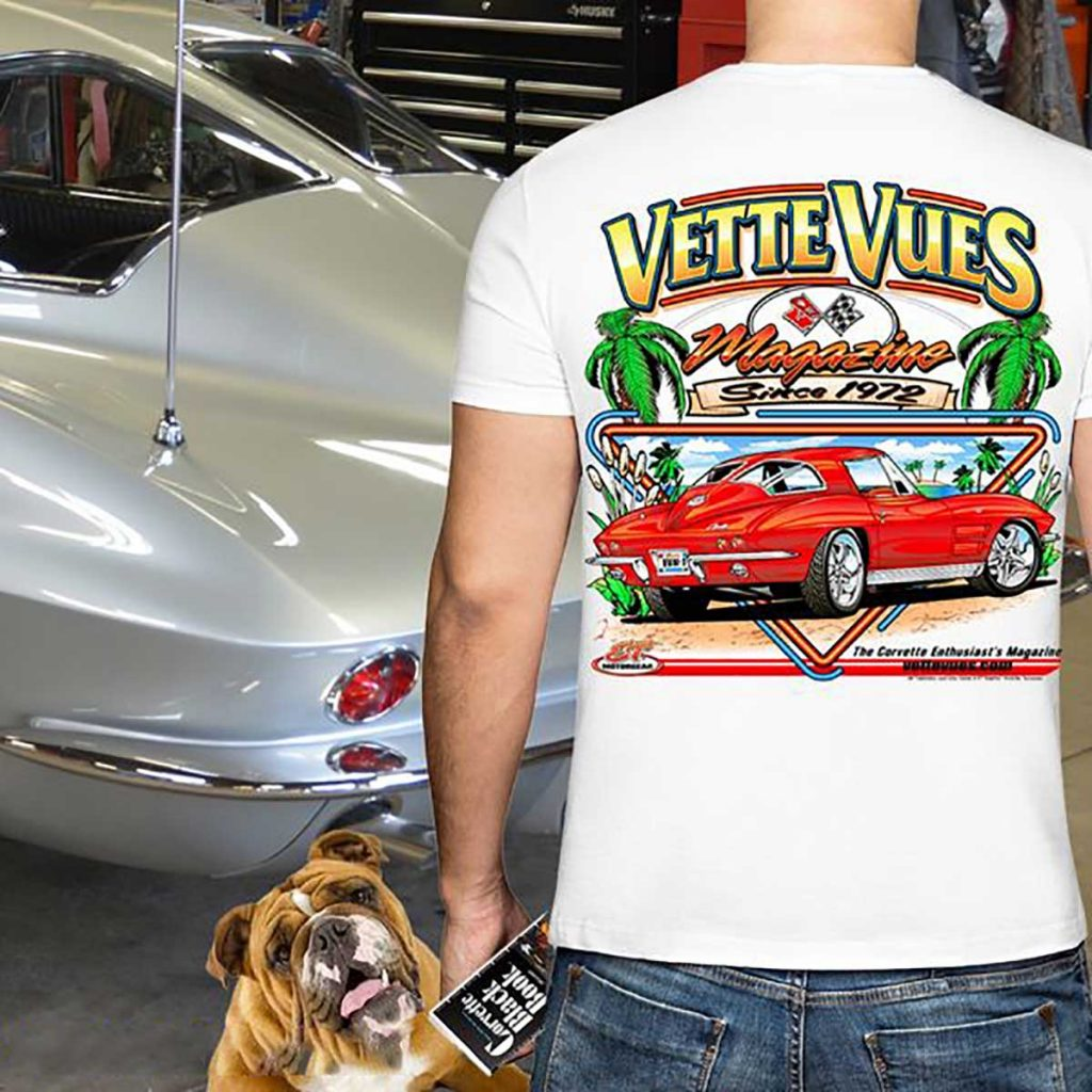 Chevrolet Licensed T-Shirt features a Red 1963 Split Window Corvette.