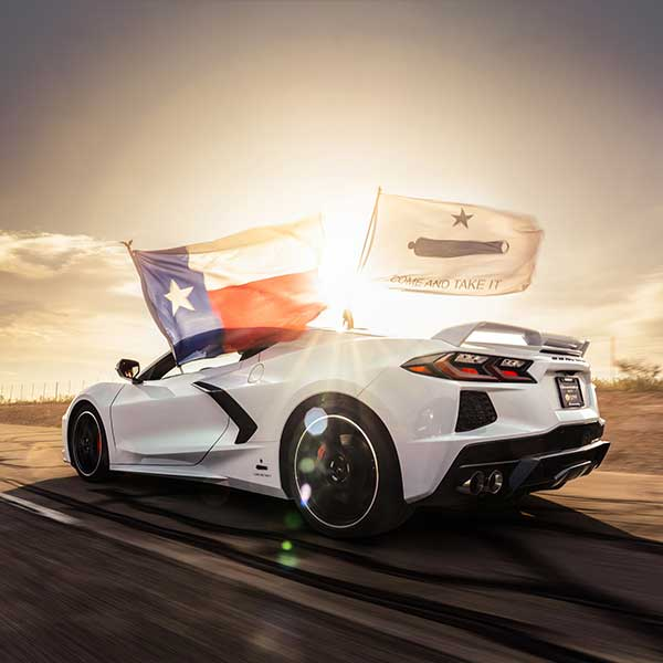 May 8, 2020, John Heinricy drove a Hennessey-prepared C8 Corvette to a top speed of 205.1 mph on the 8.0-mile high-speed oval at the Continental Tire Uvalde Proving Grounds, which is located approximately 80 miles west of San Antonio, Texas. Photo: Courtesy of Hennessey Performance Engineering.