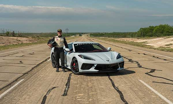 Hennessey's 2020 C8 Corvette Reached 205.1 MPH Set New Speed Record