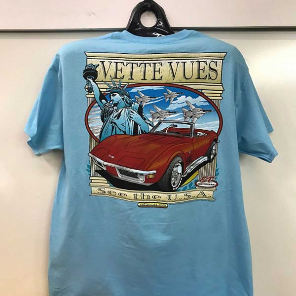 C3 Corvette with the Statue of Liberty T-Shirt