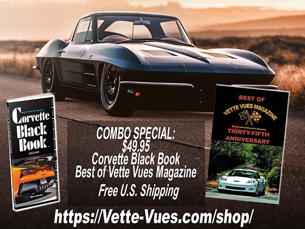 Combo 2: Corvette Black Book and Best of Vette Vues