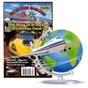 1 YEAR (12 ISSUES) Vette Vues Magazine Foreign Subscription (Air Mail).