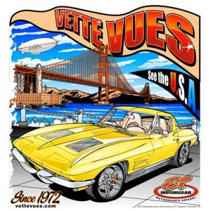 Corvette at the Golden Gate Bridge T-Shirt